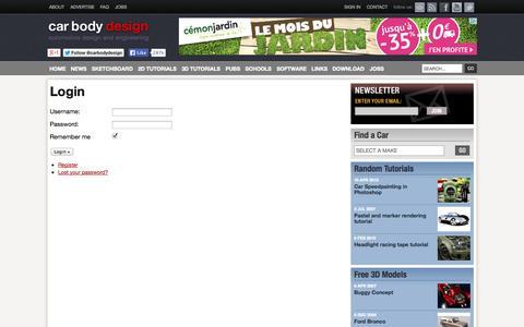 Screenshot of Login Page carbodydesign.com - Login at Car Body Design - Car Body Design - captured Sept. 19, 2014