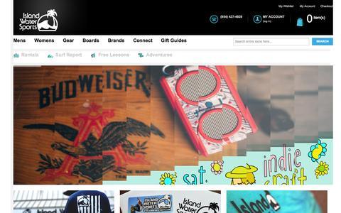 Screenshot of Home Page islandwatersports.com - Island Water Sports - Homepage - captured Jan. 21, 2015