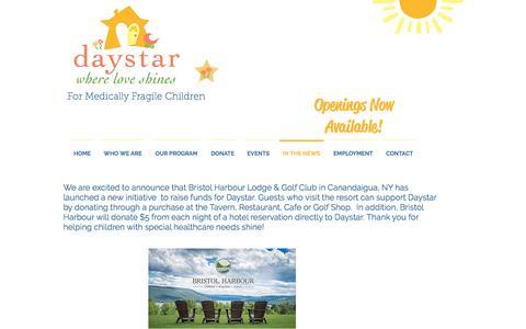 Screenshot of Press Page daystarkids.org - Daystar Kids - Where Love Shines | IN THE NEWS - captured Oct. 12, 2017