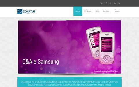 Screenshot of Home Page conatussoftware.com.br - Conatus Software - captured Oct. 2, 2014