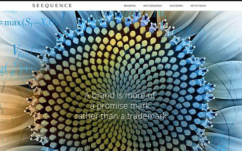 Screenshot of Home Page seequenceinc.com - Seequence - captured Jan. 22, 2016