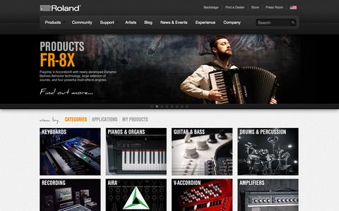 Screenshot of Products Page rolandus.com - Products | Roland U.S. - captured Sept. 25, 2014