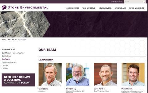 Screenshot of Team Page stone-env.com - Our Team - captured Dec. 16, 2016
