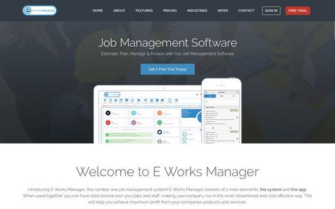 Job Management Software Solution - E Works Manager