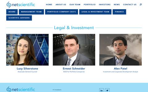 Screenshot of Terms Page netscientific.net - Legal & Investment - NetScientific - captured Nov. 1, 2017