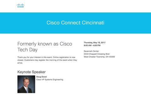 Screenshot of Landing Page cisco.com - Cisco - captured July 2, 2017