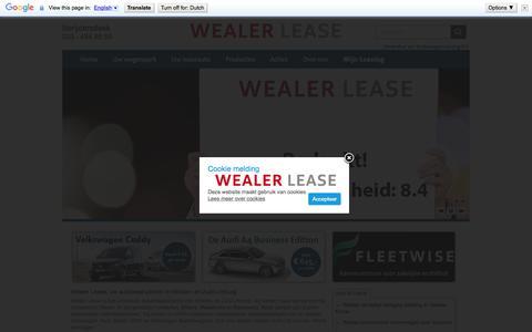 Screenshot of Home Page wealerlease.nl - Wealer Lease Heerlen / Sittard - Home » Wealer Lease Heerlen - Sittard - captured Sept. 3, 2015