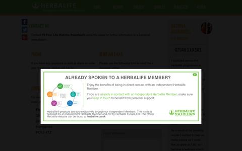 Independent Herbalife Member - www.fitfourlife.co.uk