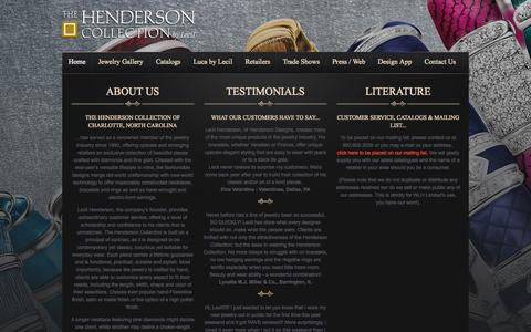 Screenshot of About Page Testimonials Page wlhlimited.com - WLH Limited - The Henderson Collection - captured Oct. 22, 2014
