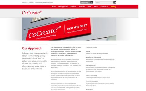 Screenshot of About Page cocreatedesign.com - Web Design and Internet Marketing Agency, Wirral & Liverpool | CoCreate Design - captured Oct. 2, 2014