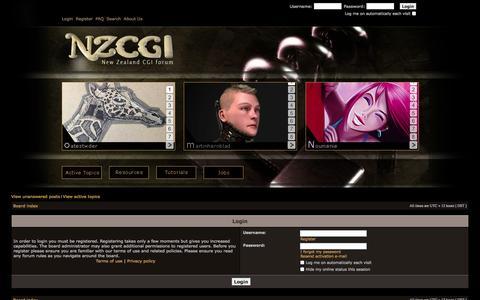Screenshot of Login Page nzcgi.com - NZCGI Forum - captured Oct. 8, 2014