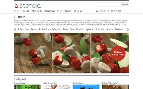 Screenshot of Home Page a-steroid.com - a.steroid visual works - captured Feb. 6, 2016