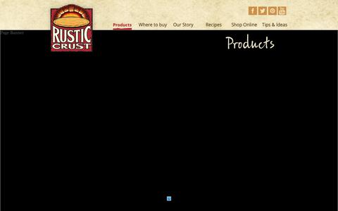 Screenshot of Products Page rusticcrust.com - Products - Rustic Crust - captured Oct. 19, 2018