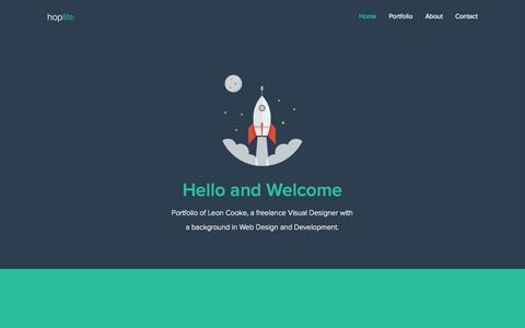 Screenshot of Home Page About Page Contact Page hoplitedigital.com - hoplite | Graphic / Web Design Blog - captured Sept. 30, 2014