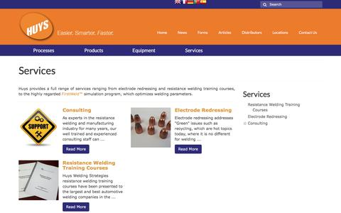 Screenshot of Services Page huysindustries.com - Services • Huys - captured Nov. 15, 2016