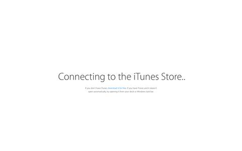 Screenshot of Home Page apple.com - Connecting to the iTunes Store. - captured Oct. 12, 2015