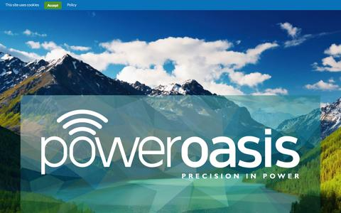 Screenshot of Home Page poweroasis.com - PowerOasis | Precision in Power - captured Sept. 18, 2015