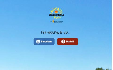 Screenshot of Home Page spanish-trails.com - Spanish Trails –Day tours from Barcelona and Madrid, Spain - captured Dec. 6, 2016