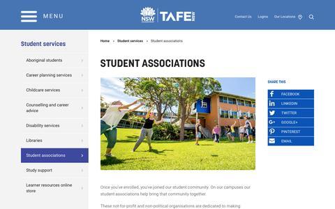 Student associations - TAFE