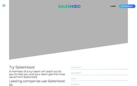 Try SalesHood - Start a Trial