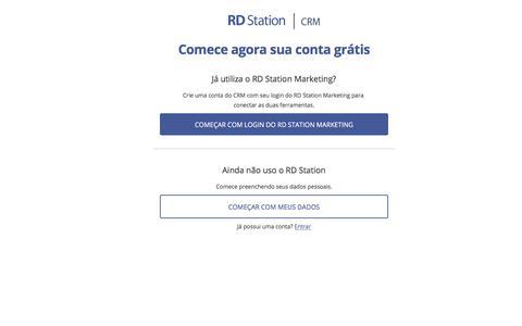 Screenshot of Signup Page plugcrm.net - RD Station CRM   Experimente um CRM Online simples e completo - captured Sept. 28, 2019