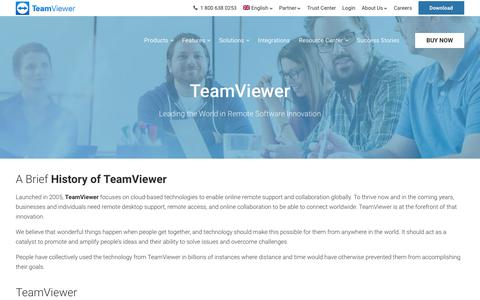 Screenshot of About Page Contact Page Terms Page teamviewer.com - About TeamViewer: Leader in innovative remote software solutions - captured Nov. 22, 2018
