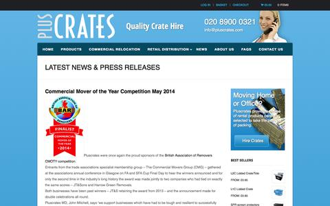Screenshot of Press Page pluscrates.com - Latest News & Press Releases Archives - Plus Crates - captured Oct. 3, 2014