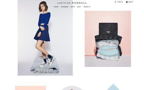 Screenshot of Home Page loefflerrandall.com - Loeffler Randall |  Home page - captured July 24, 2015