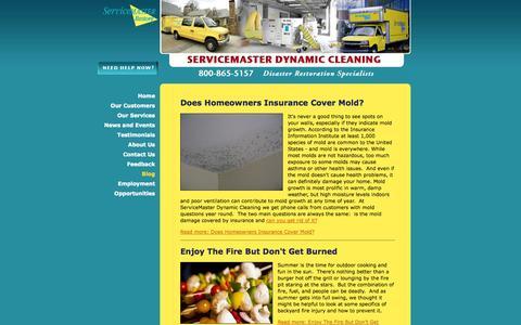 Screenshot of Blog smdynamic.com - Blog - Disaster Restoration Services - ServiceMaster Dynamic Cleaning - captured Oct. 7, 2014