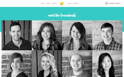 Screenshot of Team Page lemonly.com - Lemonly Team: Infographic design company | Infographic Designers - captured Sept. 13, 2016
