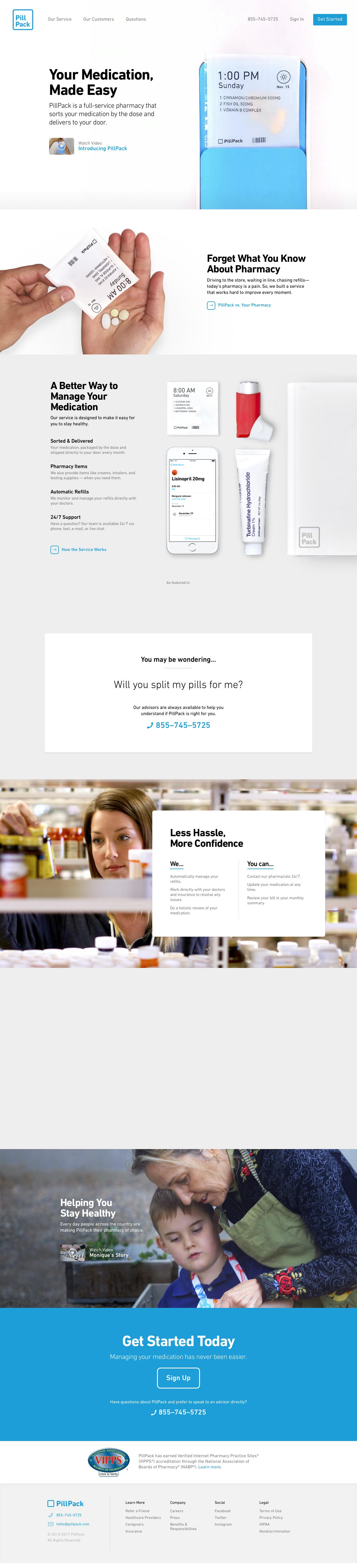 Screenshot of pillpack.com - PillPack - A Pharmacy Designed for You - captured June 14, 2017