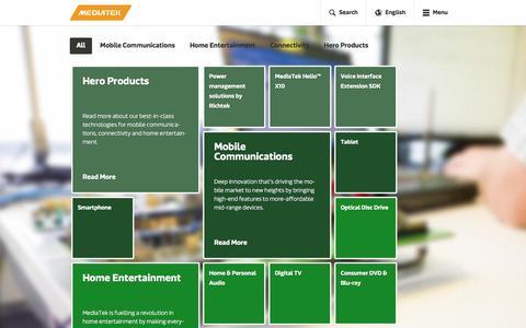 Screenshot of Products Page mediatek.com - Products - MediaTek - captured Dec. 3, 2015