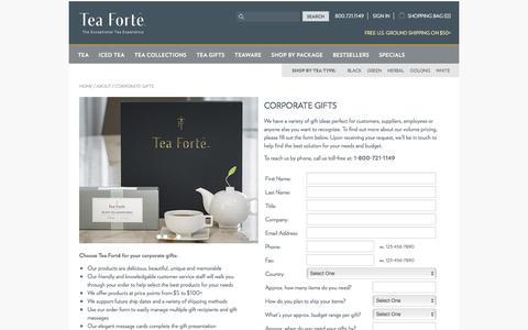 Corporate Gifts by Tea Forté
