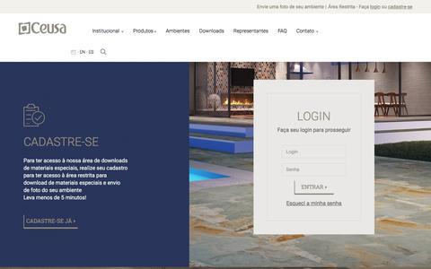 Screenshot of Login Page ceusa.com.br - Ceusa Revestimentos Ceramicos |   Minha Conta - captured July 8, 2017