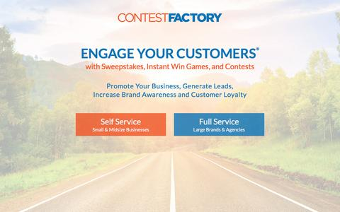 Screenshot of Home Page contestfactory.com - Contest Factory - captured May 20, 2017