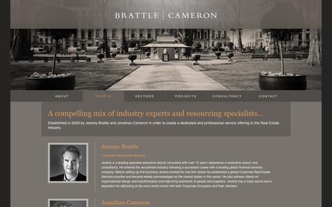 Screenshot of Team Page brattlecameron.com - Brattle Cameron Limited | Our People - captured Oct. 5, 2014