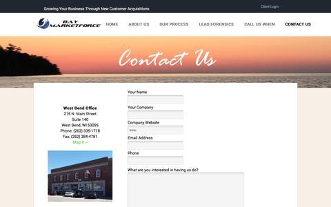 Screenshot of Contact Page baymarketforce.com - Bay MarketForce -  Contact Us - captured Nov. 22, 2016