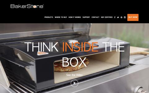 Screenshot of Home Page bakerstonebox.com - BakerStone Pizza Oven Box - captured Oct. 5, 2018