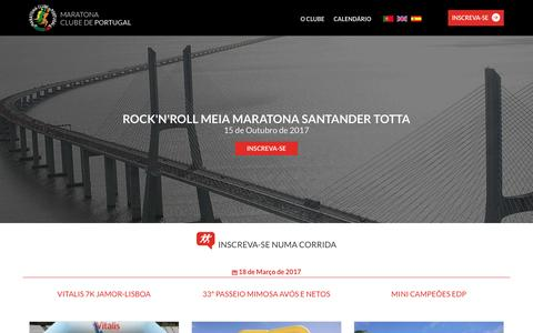 Screenshot of Home Page maratonaclubedeportugal.com - Maratona Clube de Portugal - captured March 10, 2017