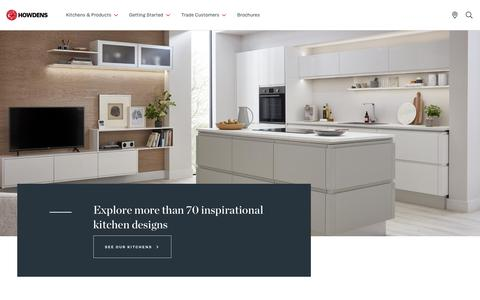 Screenshot of Home Page howdens.com - A trusted name in kitchens | Howdens Joinery - captured Sept. 19, 2018