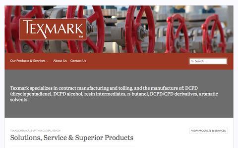 Screenshot of Home Page texmark.com captured Feb. 16, 2016