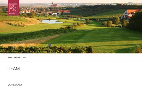 Screenshot of Team Page poysdorf.golf - Team – Golfclub Poysdorf - captured May 23, 2018
