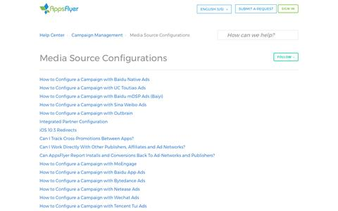 Media Source Configurations – Help Center