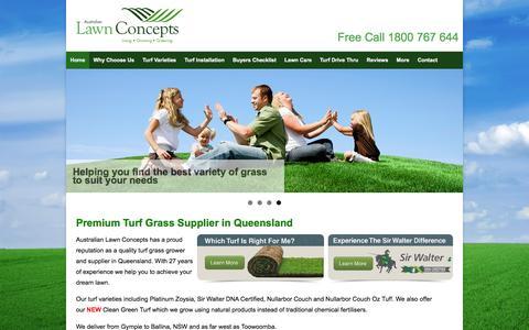 Screenshot of Home Page alcturf.com.au - Turf Grass Supplier - ALC Turf Australian Lawn Concepts - captured Nov. 21, 2016