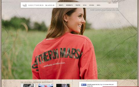 Screenshot of Home Page southernmarsh.com - Southern Marsh Collection — Southern Marsh Collection - The Original Southern Outfitter - captured Jan. 24, 2015