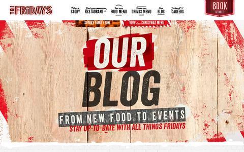 Screenshot of Blog tgifridays.co.uk - TGI Fridays Restaurant & Bar – View Menu & Book a Table Online - captured Oct. 27, 2017