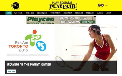 Screenshot of Home Page squashontario.com - Squash Ontario | - captured June 20, 2015