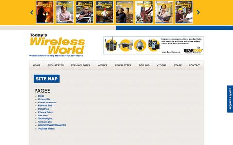 Screenshot of Site Map Page todayswirelessworld.com - Sitemap | Today's Wireless World - captured Oct. 7, 2014