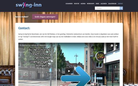 Screenshot of Contact Page swing-inn.nl - Contact - Swing-inn - captured Sept. 25, 2018