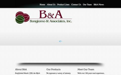 Screenshot of Home Page bna-rep.com - Bongiorno & Associates, Inc. - captured Oct. 5, 2014